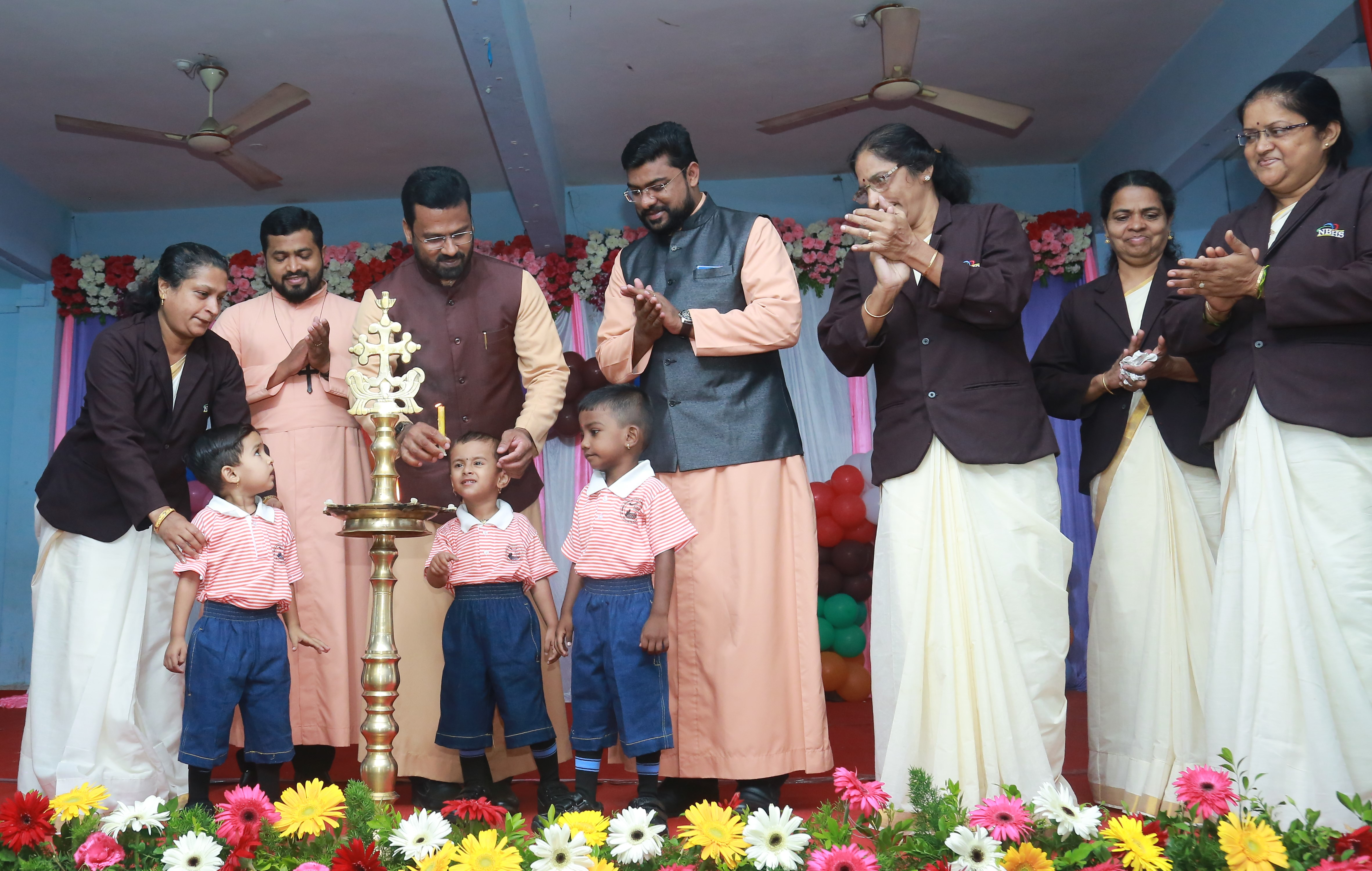 """Tiny-Tots  of our school CELEBRATE their first 'ABC' writing.  """"Vidyarambha"""" ceremony was celebrated on 20 June 2019."""